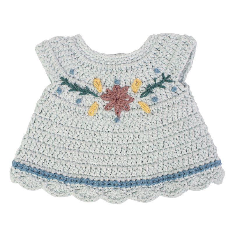 Dukketøj Fra Sebra -  kjole -  mist blue