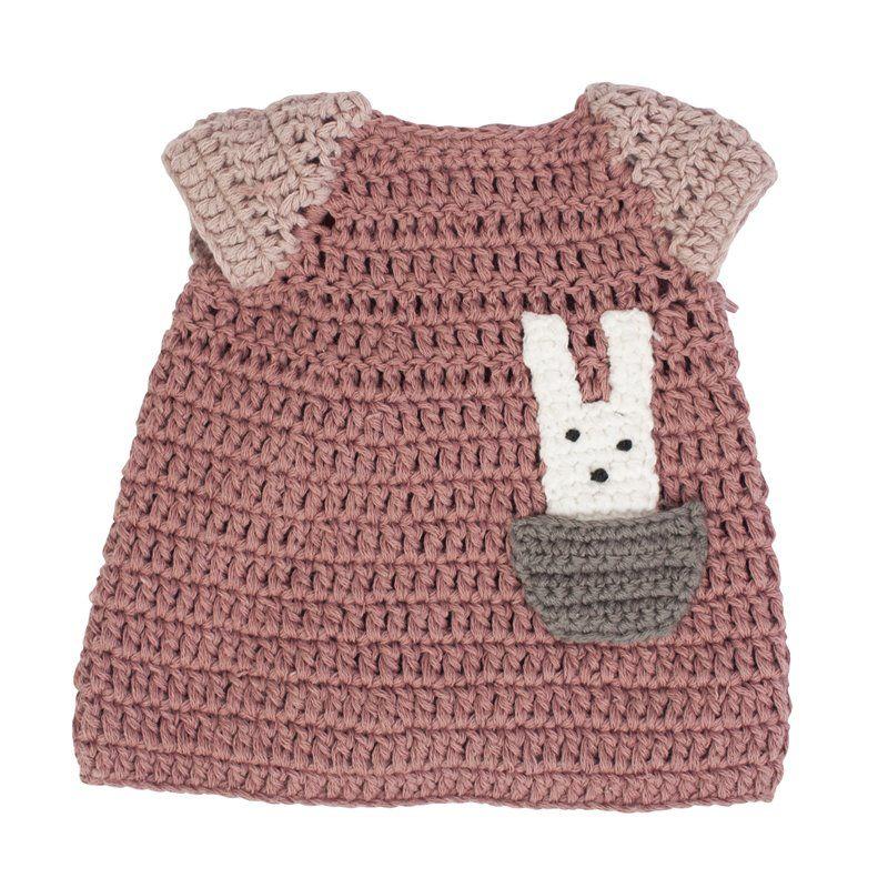 Dukketøj Fra Sebra -  kjole -  powder rose