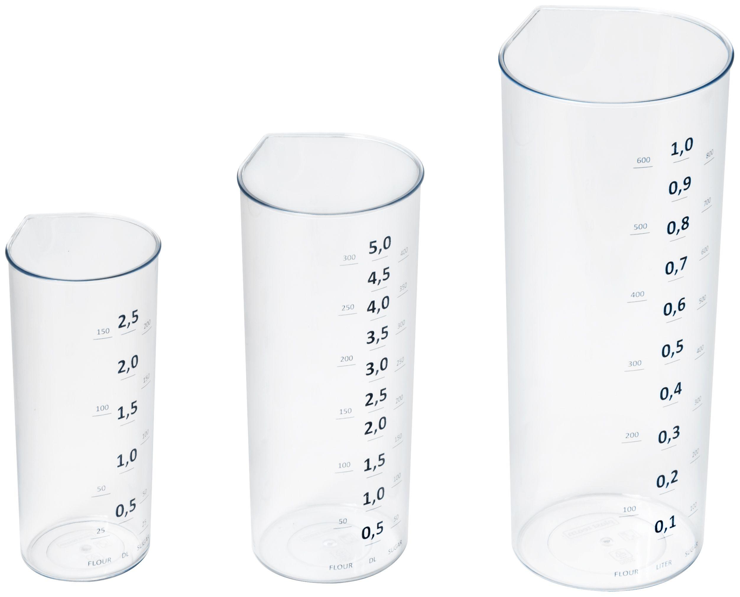 Image of Målebægre fra Plast team (25, 50, 100 ml) (30040800)
