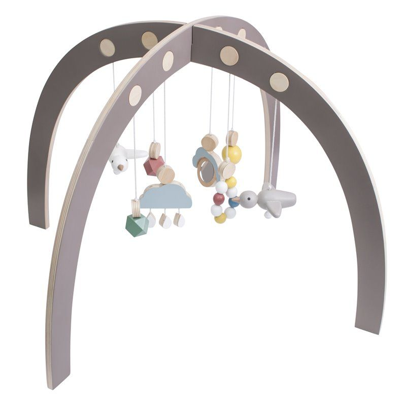 Aktivitetscenter Fra Sebra -  Baby gym -  warm grey