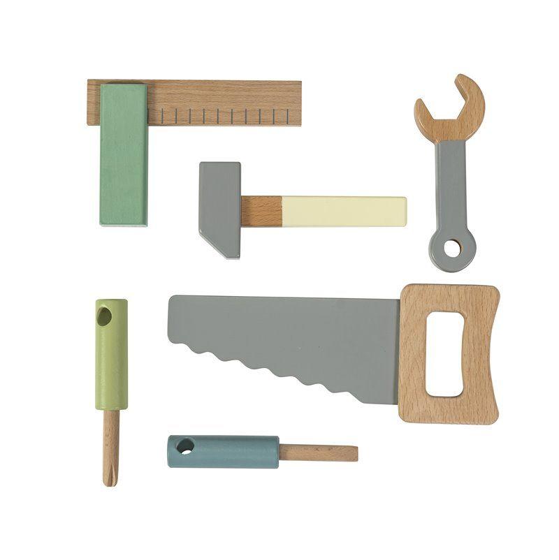 Image of Værktøjssæt i træ fra Sebra (3017301)