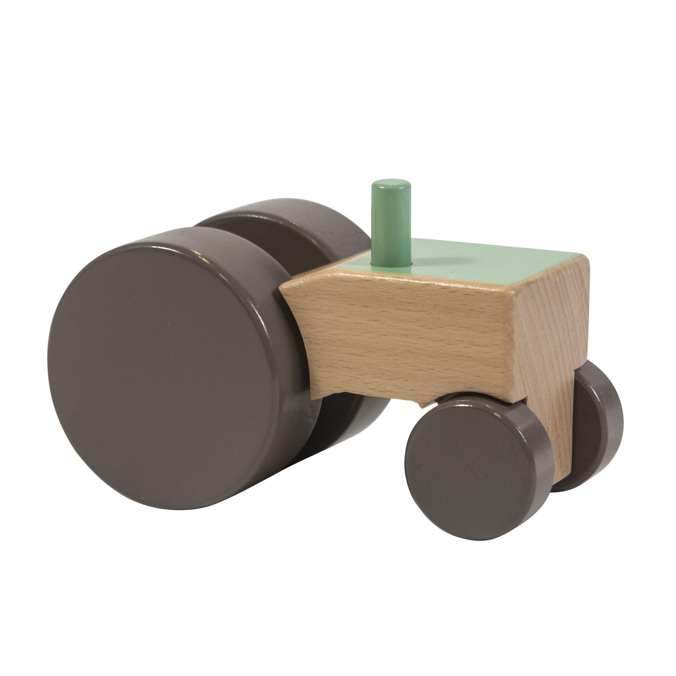 Image of Traktor i træ fra Sebra - grøn (3019304)