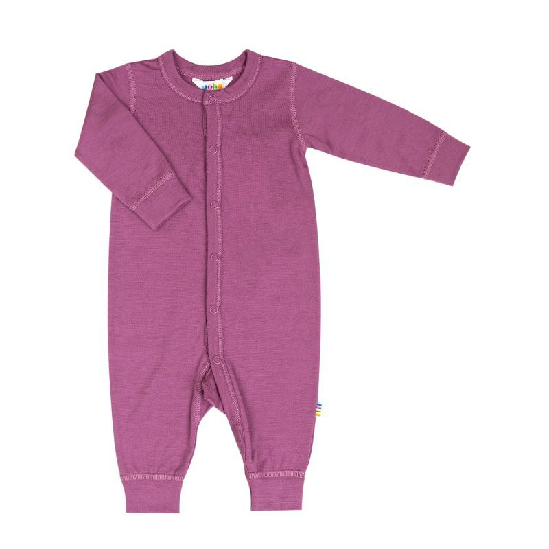 Image of   Jumpsuit i uld fra Joha - Extra Fine merino - Grape