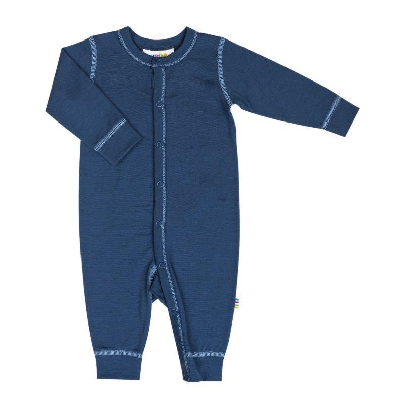 Billede af Jumpsuit i uld fra Joha - Extra Fine merino - Mørkeblå