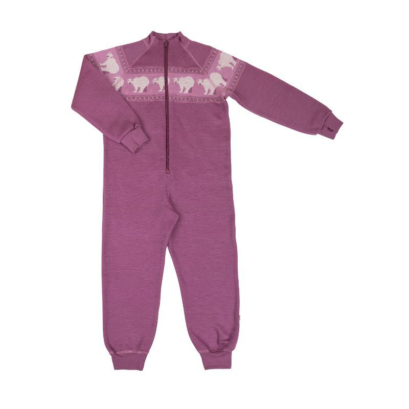 Image of   Jumpsuit i uld fra Joha - Icebear - Grape Nect
