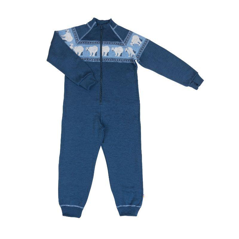 Image of   Jumpsuit i uld fra Joha - Icebear - Ensign Blue