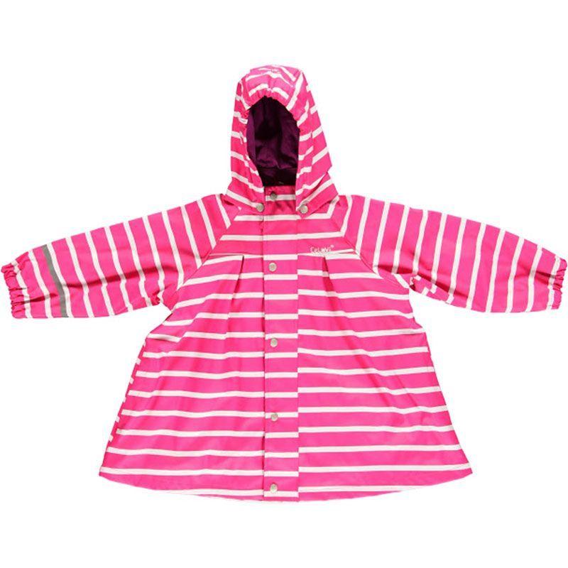 Image of Regnjakke fra CeLaVi - Pink m. Striber (310017-516)