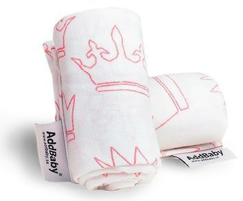 Image of   Muslin stofbleer fra Addbaby - Little Princess (2-pak)
