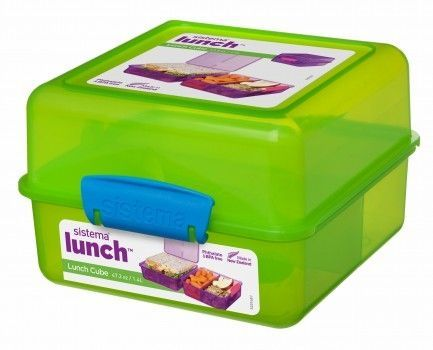 Image of   Madkasse Lunch Cube fra Sistema Itsy Bitsy - Lime/Aqua