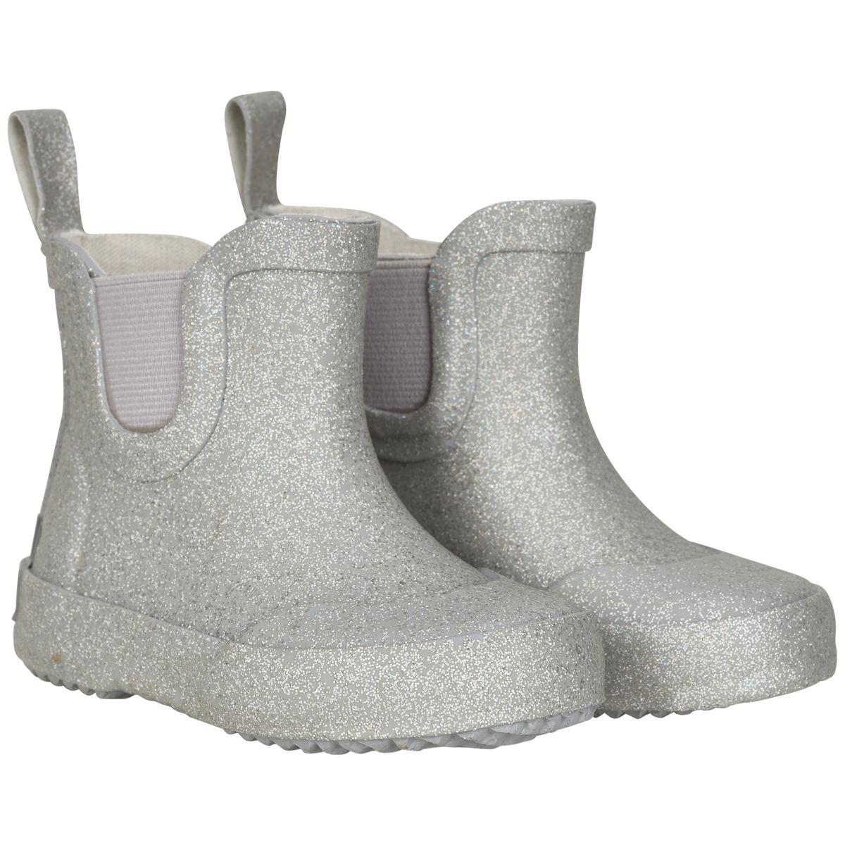 Image of Gummistøvler fra CeLaVi - Kort skaft - Silver Glitter (320092-1120)