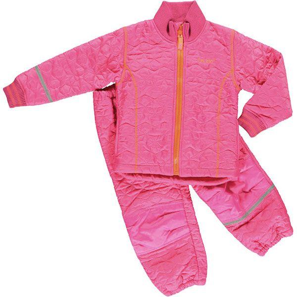 Image of   Termotøj med fleece fra CeLaVi - Pink m. neon-orange