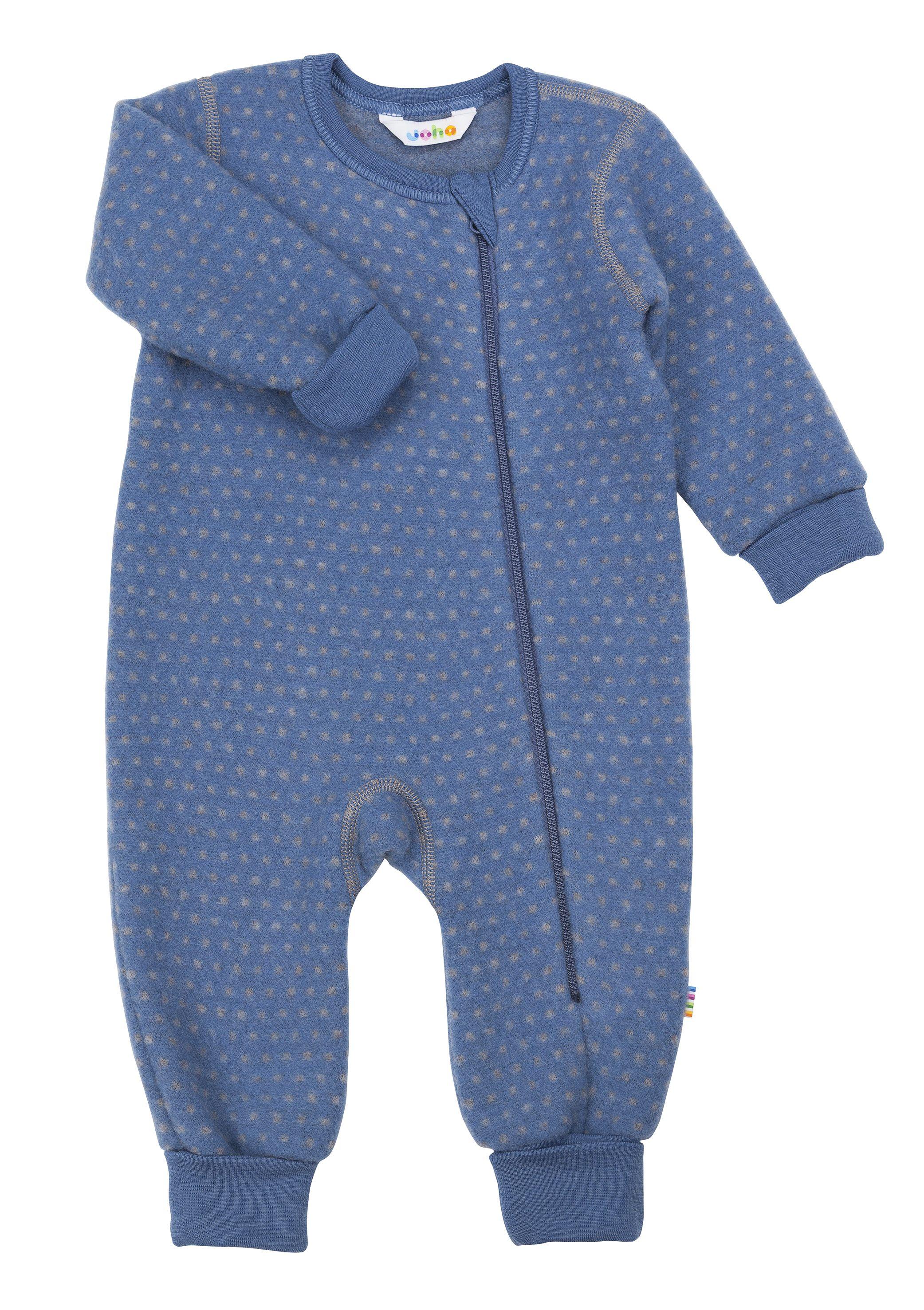 Image of   Køredragt med tryllefod fra Joha - Soft Wool - Blue