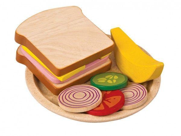 Image of   Sandwich måltid fra Plantoys - Bæredygtigt legetøj