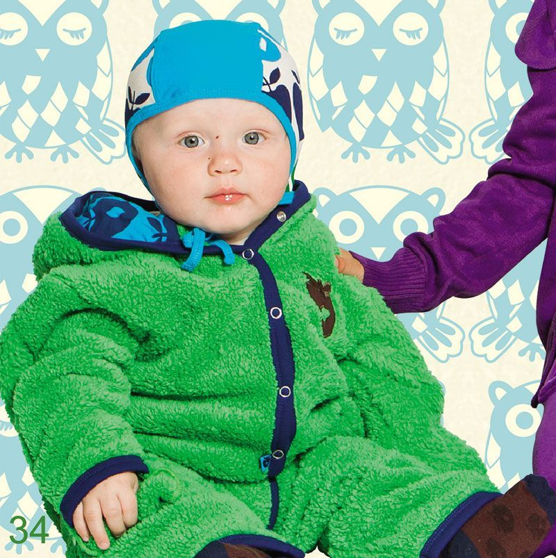 Image of   Baby hjelm fra Småfolk - Turkis Multiæble (Øko-Tex)