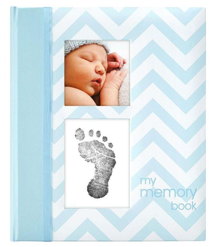 Image of Babybog m. aftryk-sæt fra Pearhead - My Memory Book - Blå (P62201)