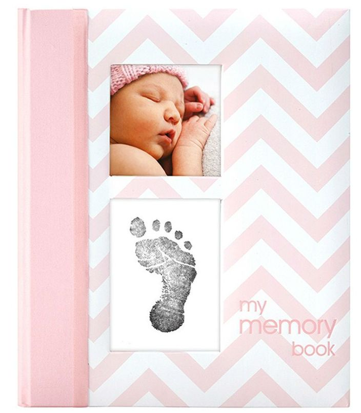 Image of Babybog m. aftryk-sæt fra Pearhead - My Memory Book - Rosa (P62202)