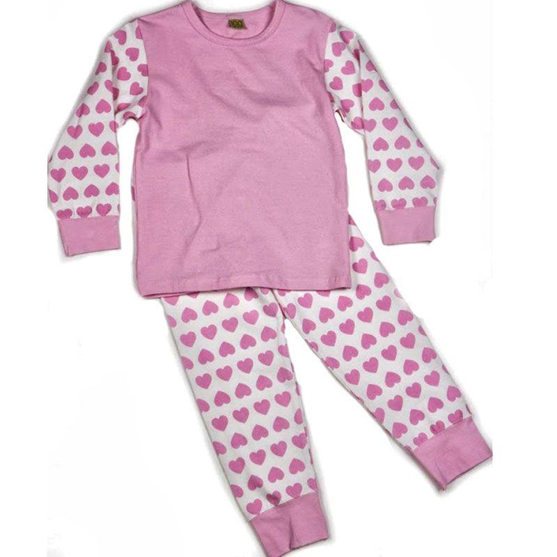 Image of   Pyjamas fra CelaVi - Rosa m. hjerter
