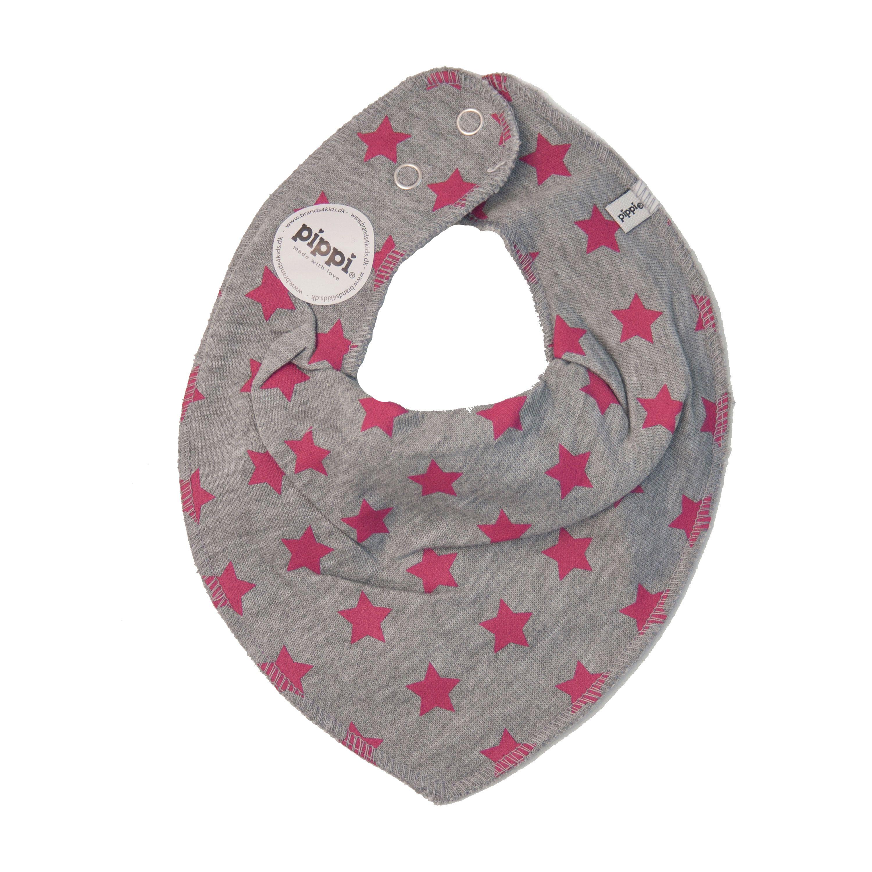 Image of   Savlesmæk fra Pippi - Bandana - Pink m. grå stjerner