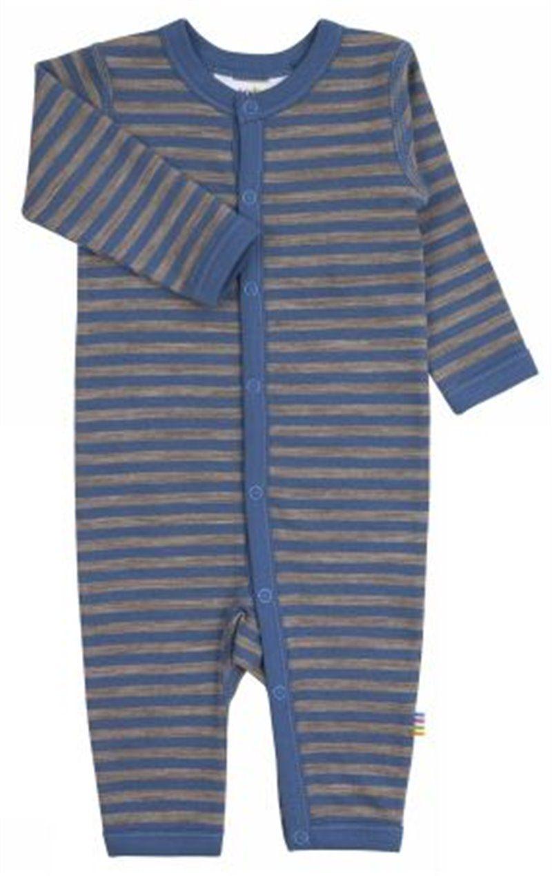 Image of   Heldragt fra Joha i uld/bomuld m. Grå/blå striber