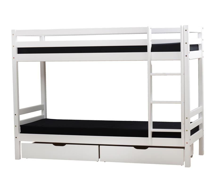 Image of   Etageseng med skuffer og madrasser fra Hoppekids (190x70)