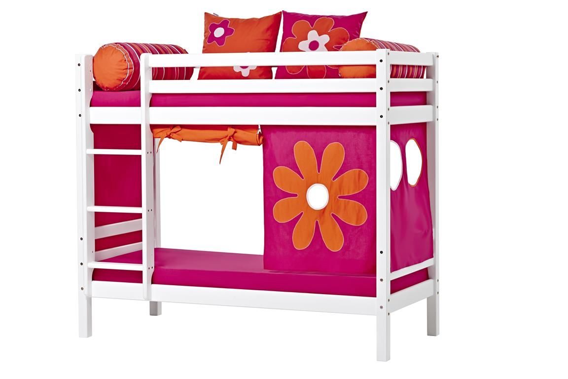 Billede af Forhæng til Halvhøj seng og Køjeseng fra Hoppekids - Flower Power