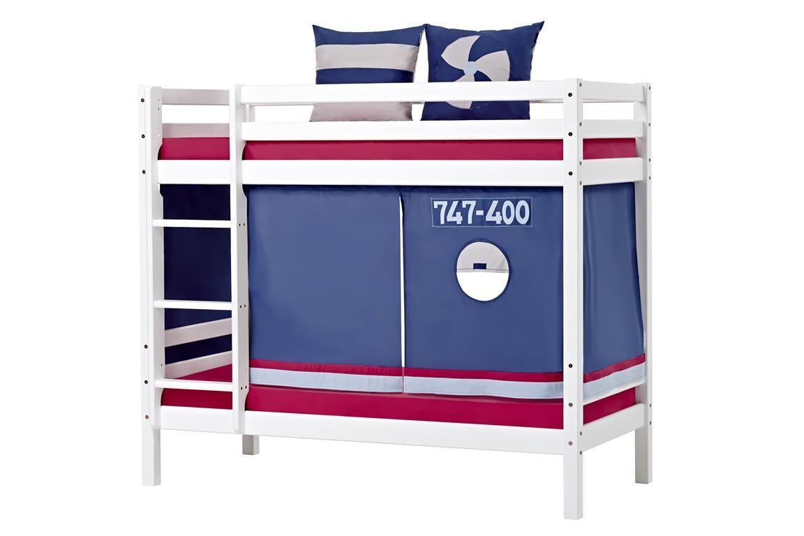 Billede af Forhæng til Halvhøj seng og Køjeseng fra Hoppekids - Aeroplane