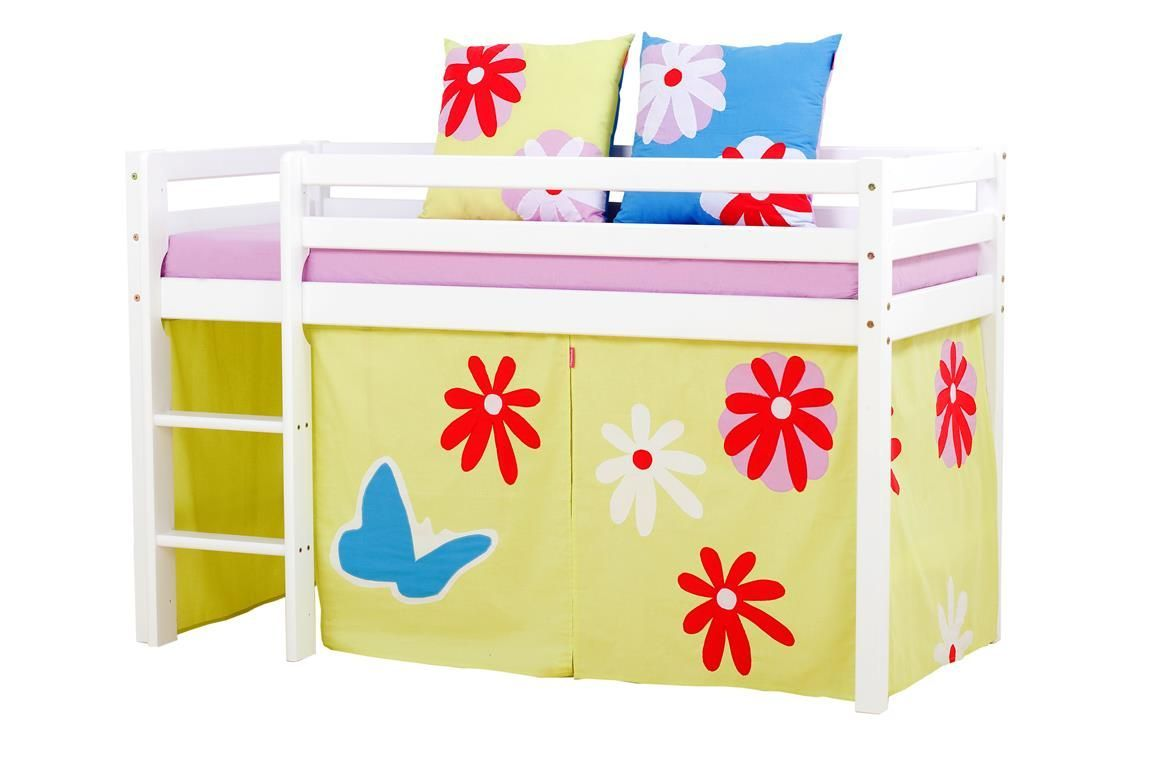 Billede af Forhæng til Halvhøj seng / Etageseng fra Hoppekids - Butterfly - 160