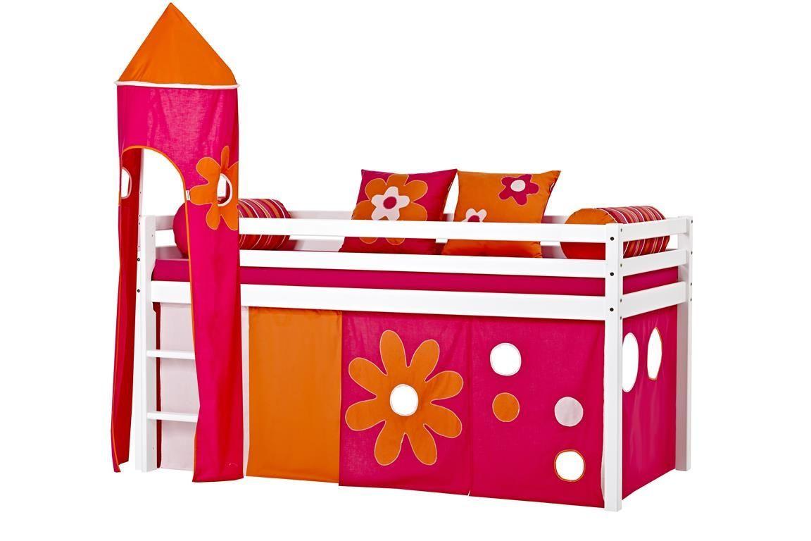 Billede af Tårn fra Hoppekids til halvhøj seng eller Køjeseng - Flower Power
