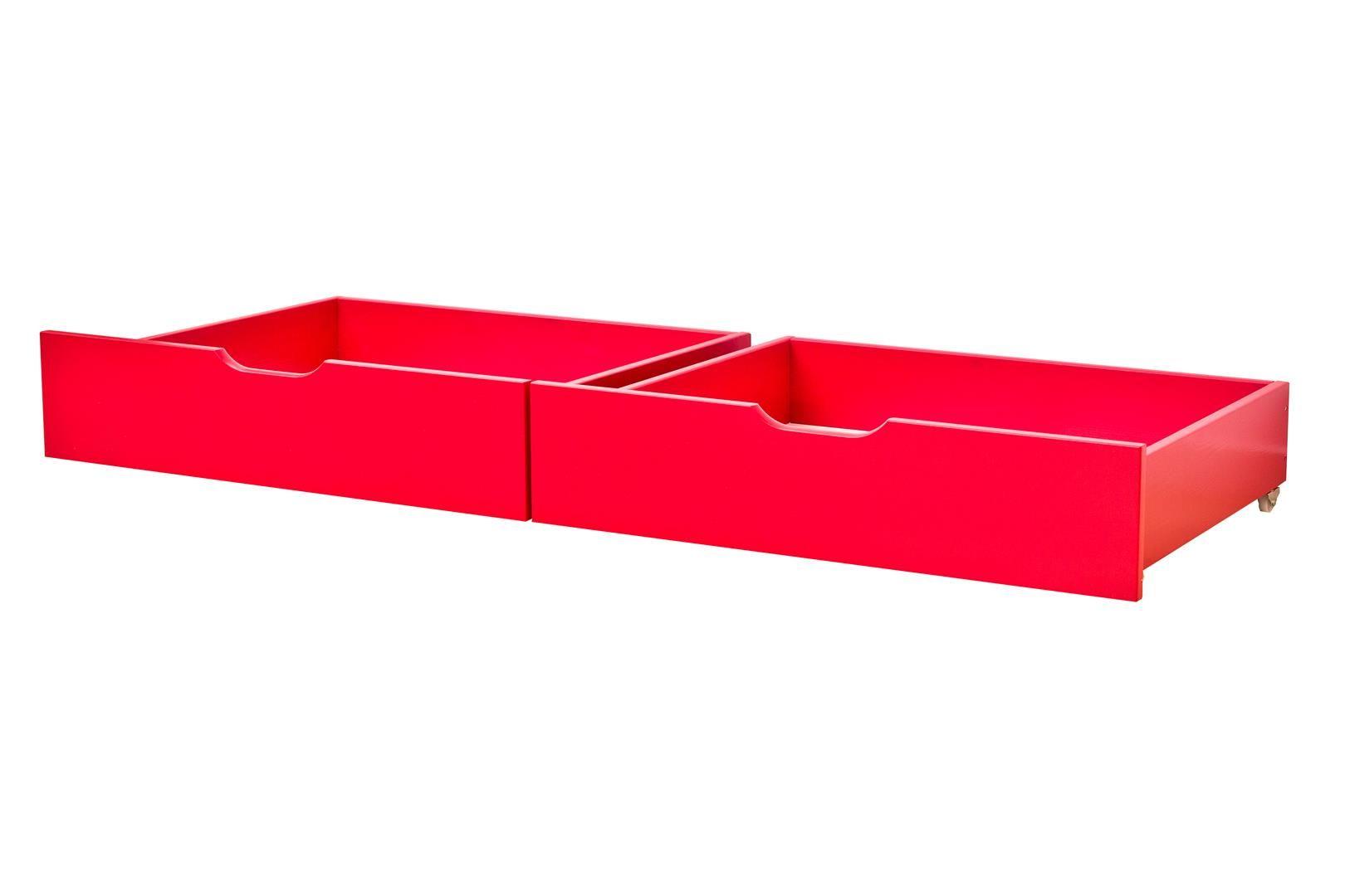 Sengeskuffesæt fra Hoppekids - Classic Red (182x60)