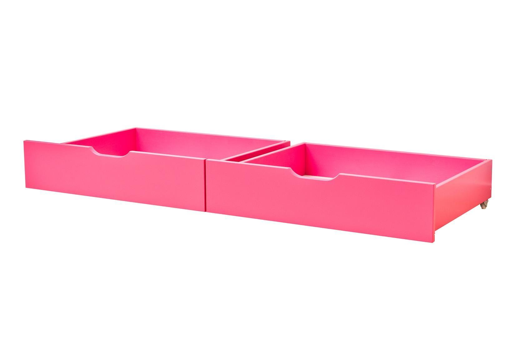 Sengeskuffesæt fra Hoppekids - Fandango Pink (153x60)