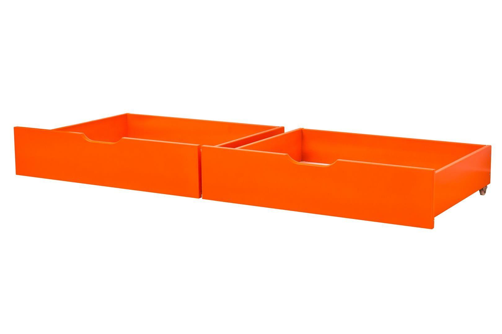 Sengeskuffesæt fra Hoppekids - Orange (182x60)