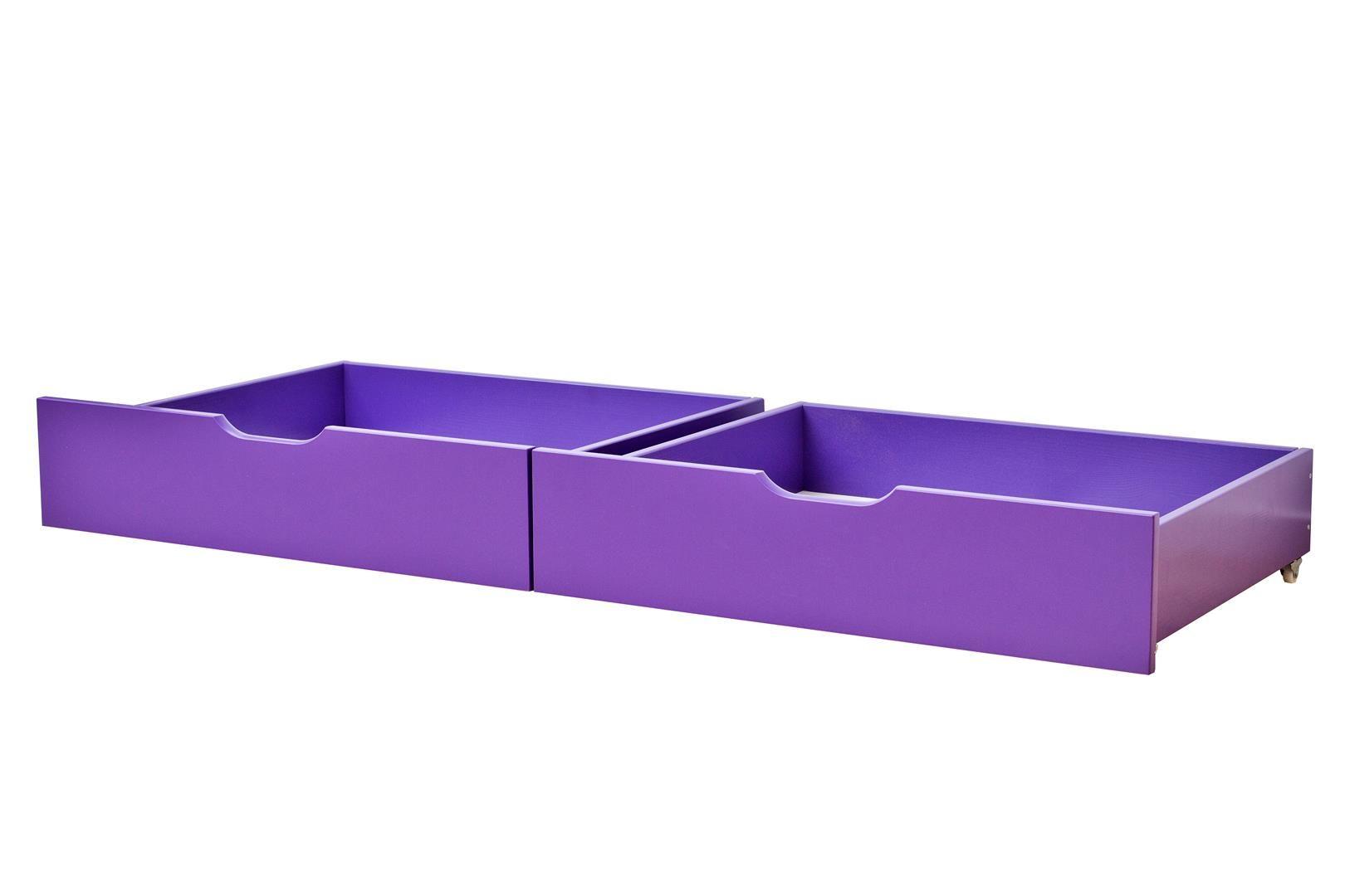 Sengeskuffesæt fra Hoppekids - Purple (153x60)