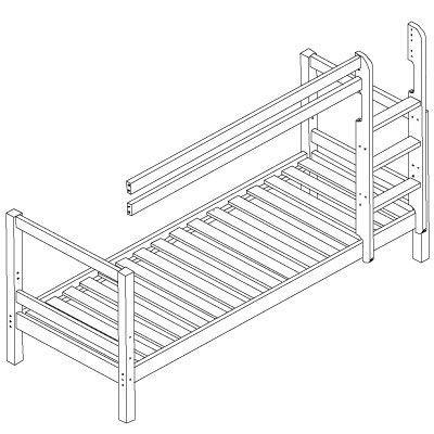 Image of   Køjeseng Basic modul Fra Hoppekids (200 cm)
