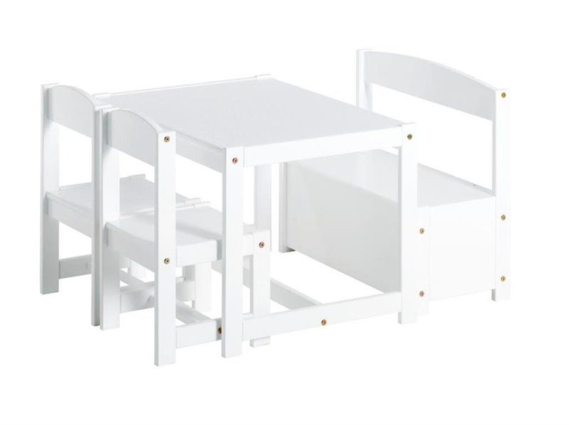 Image of Børnesæt med bord, stole og bænk fra Hoppekids (36-4270-82-001)