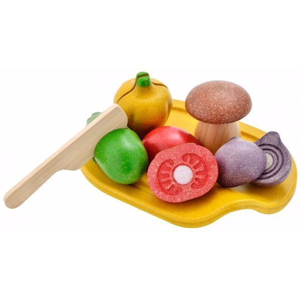 Image of   Blandet grøntsags sæt fra Plantoys - Bæredygtigt legetøj