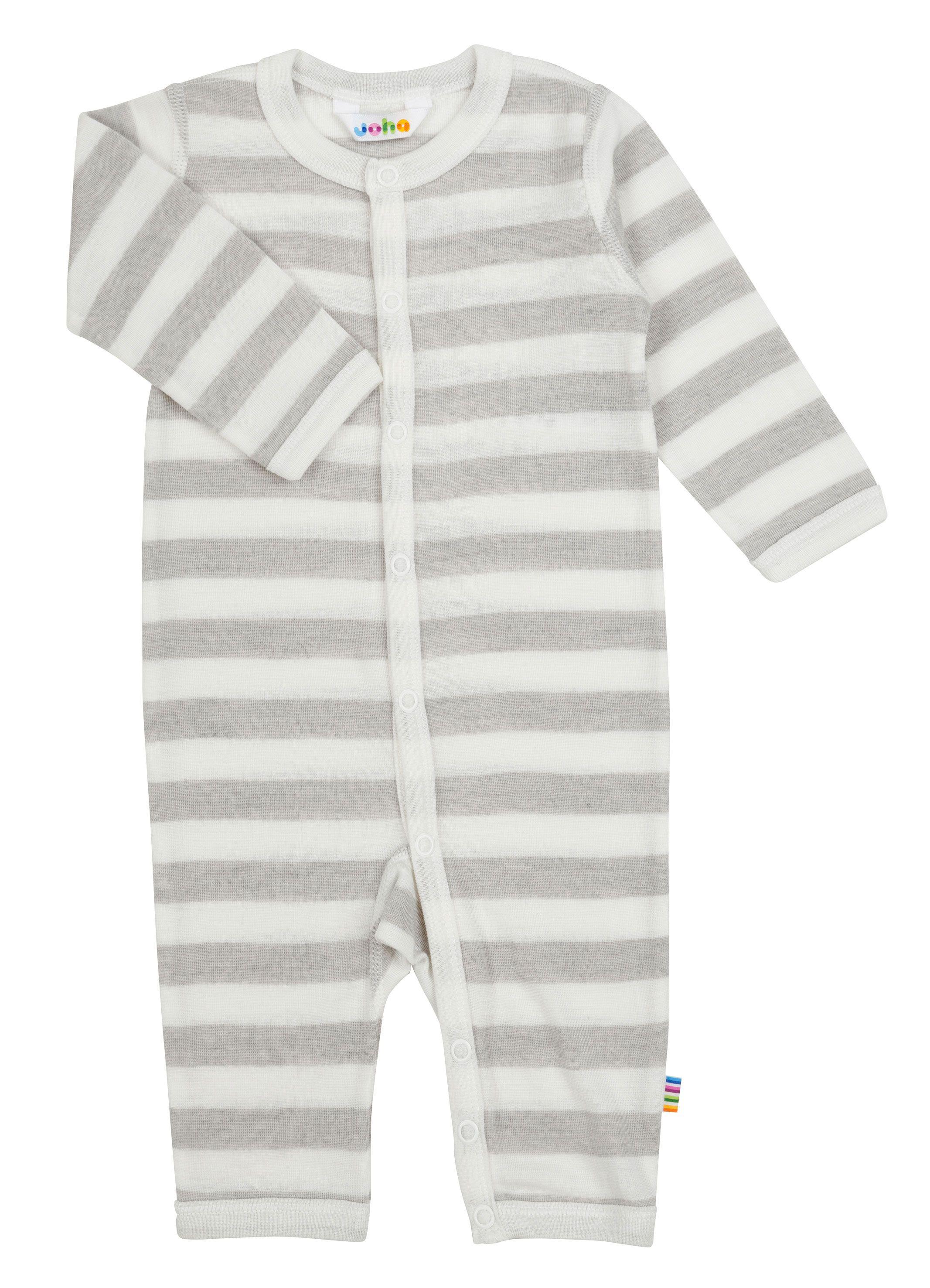 Image of   Heldragt fra Joha i uld-silke m. White-grey stripe