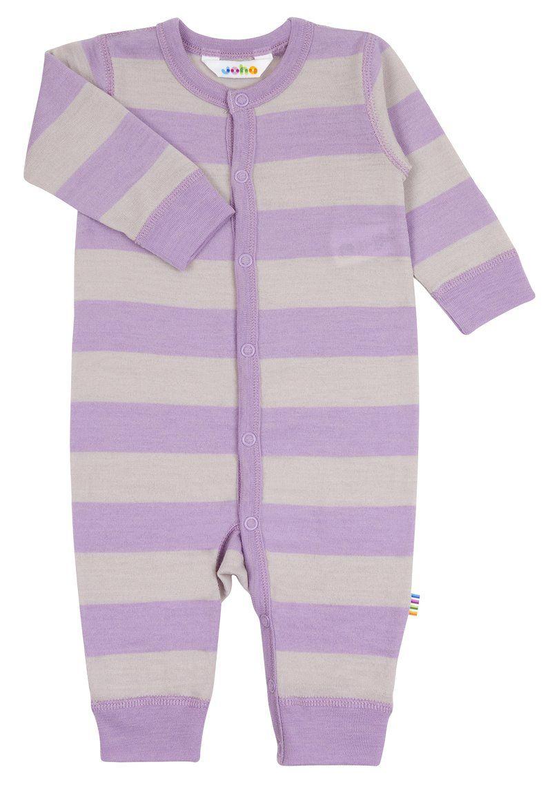Image of   Jumpsuit fra Joha i uld - Wide Stripe Lavender