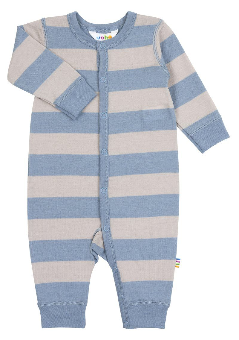 Image of   Jumpsuit fra Joha i uld - Wide Stripe Blue