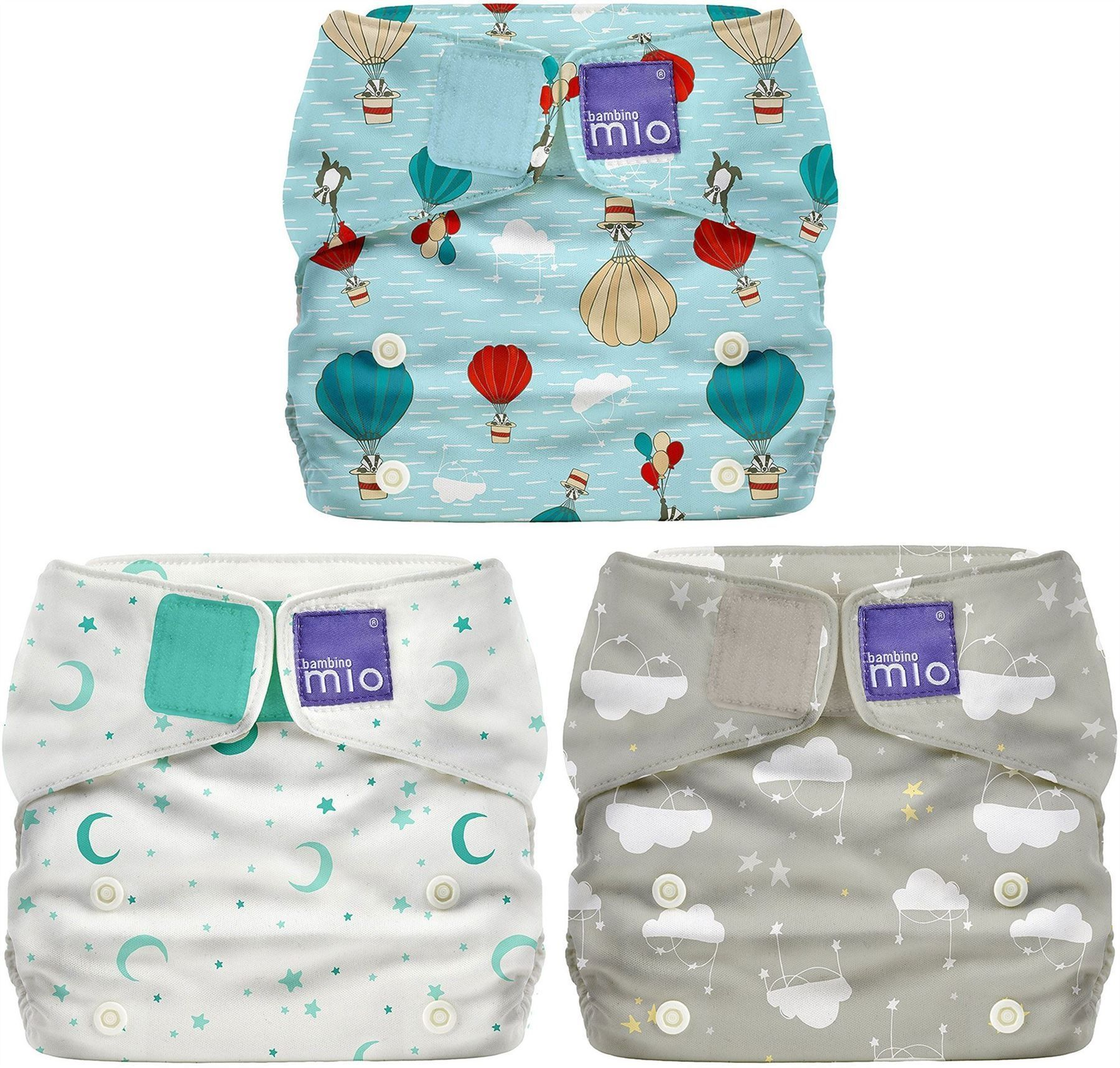 Image of Stofble fra Bambino Mio - Onesize Miosolo All-In-One - Cloud Nine (BMO-HYG01-GRY)
