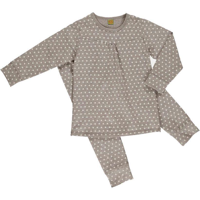 Image of   Pyjamas fra CelaVi - Grey melange m. prikker