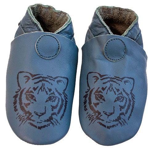 Image of   Hjemmesko fra CeLaVi - Dusty Blue - Tiger