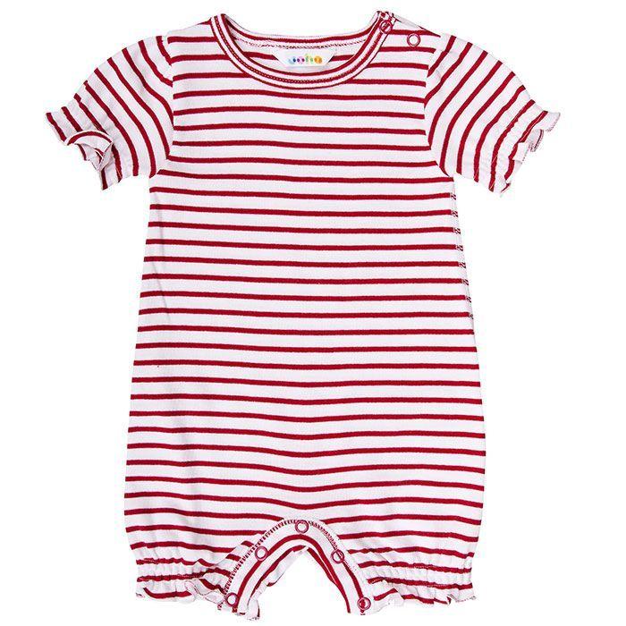 Image of   Sommerdragt fra Joha - Red / White Stripe