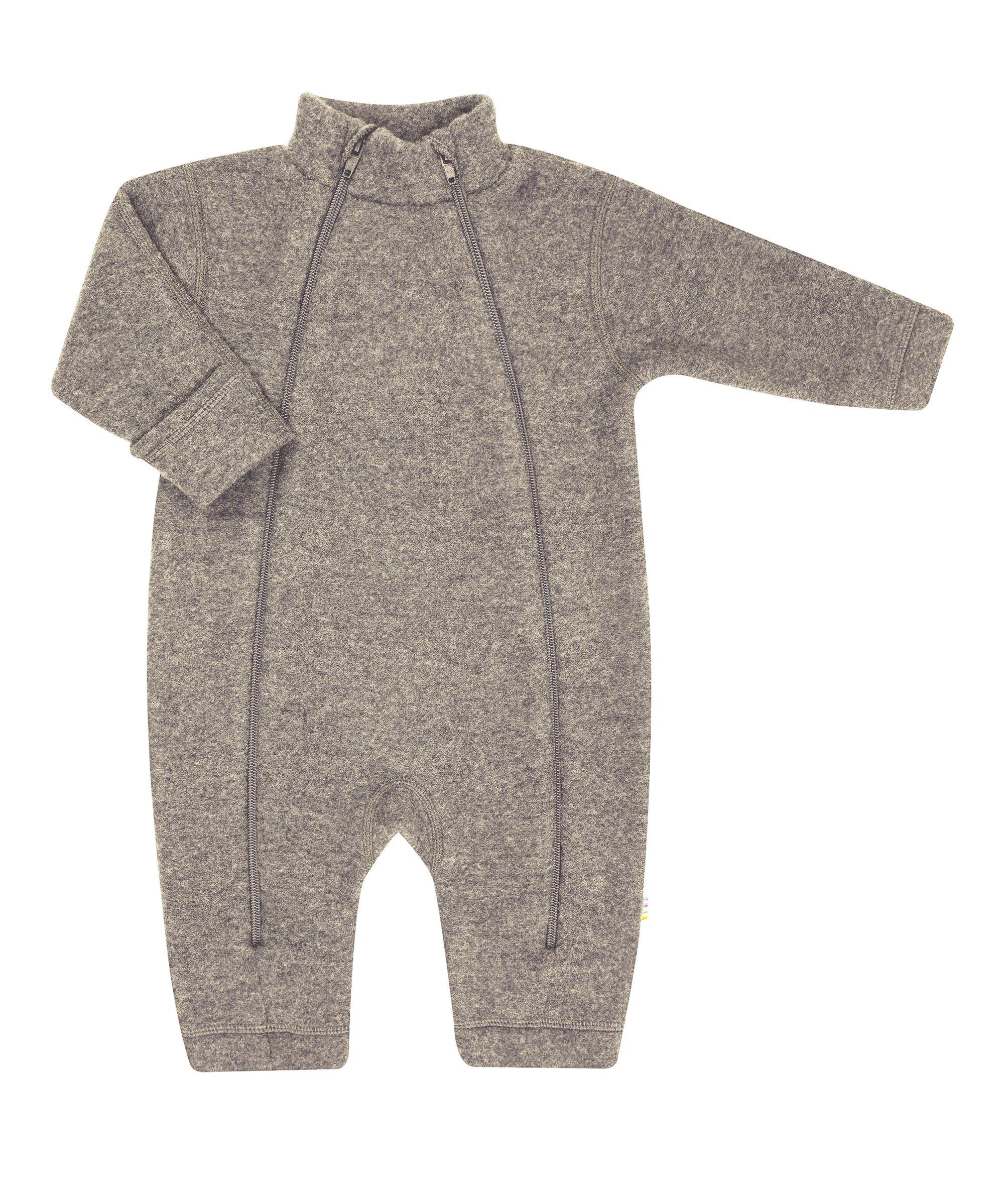 Image of   Soft wool køredragt m. lynlås fra Joha - Sesame Melange