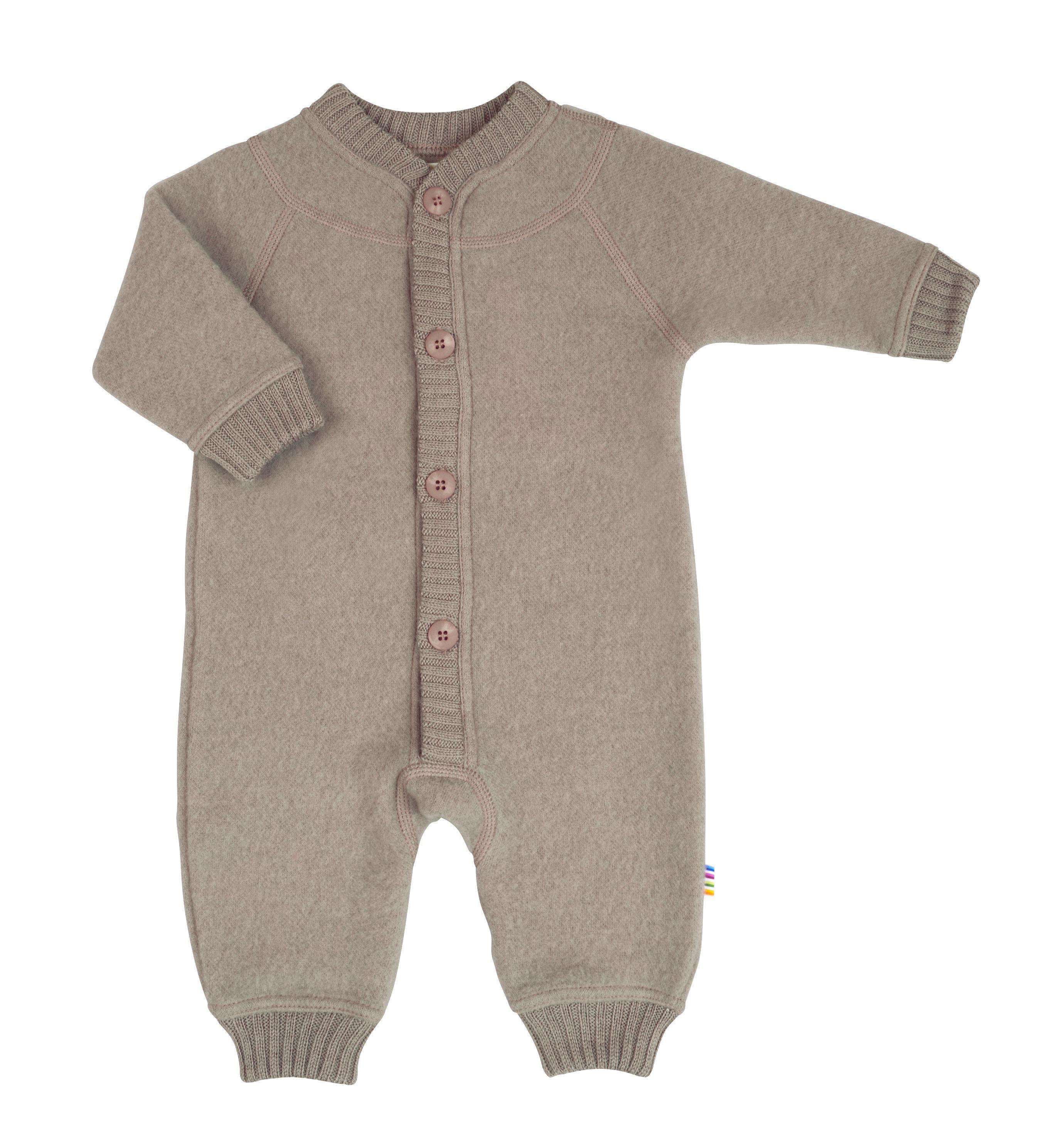 Image of   Soft wool køredragt m. knapper fra Joha - Sesame Melange