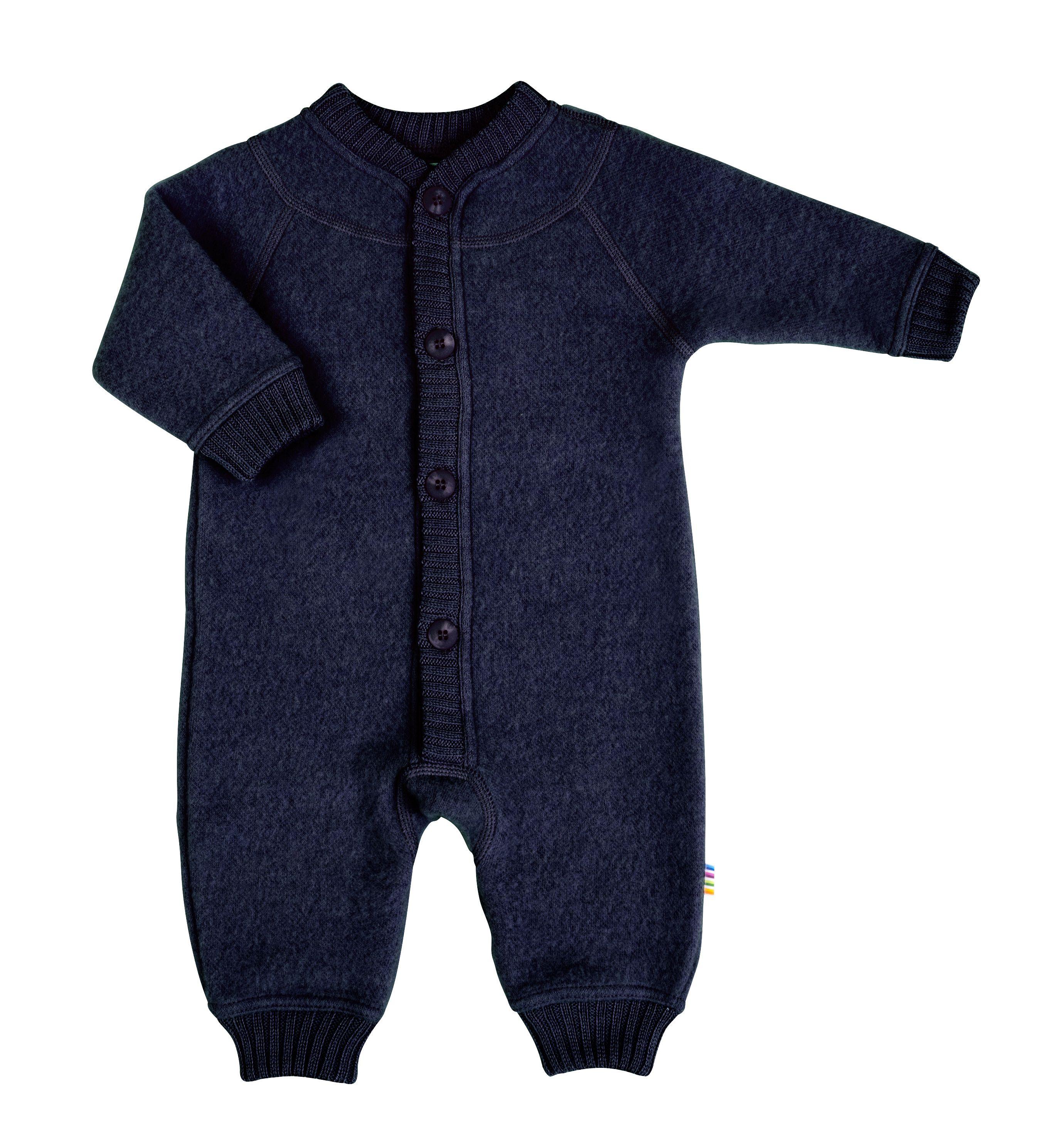 Image of   Soft wool køredragt m. knapper fra Joha - Darkblue melange