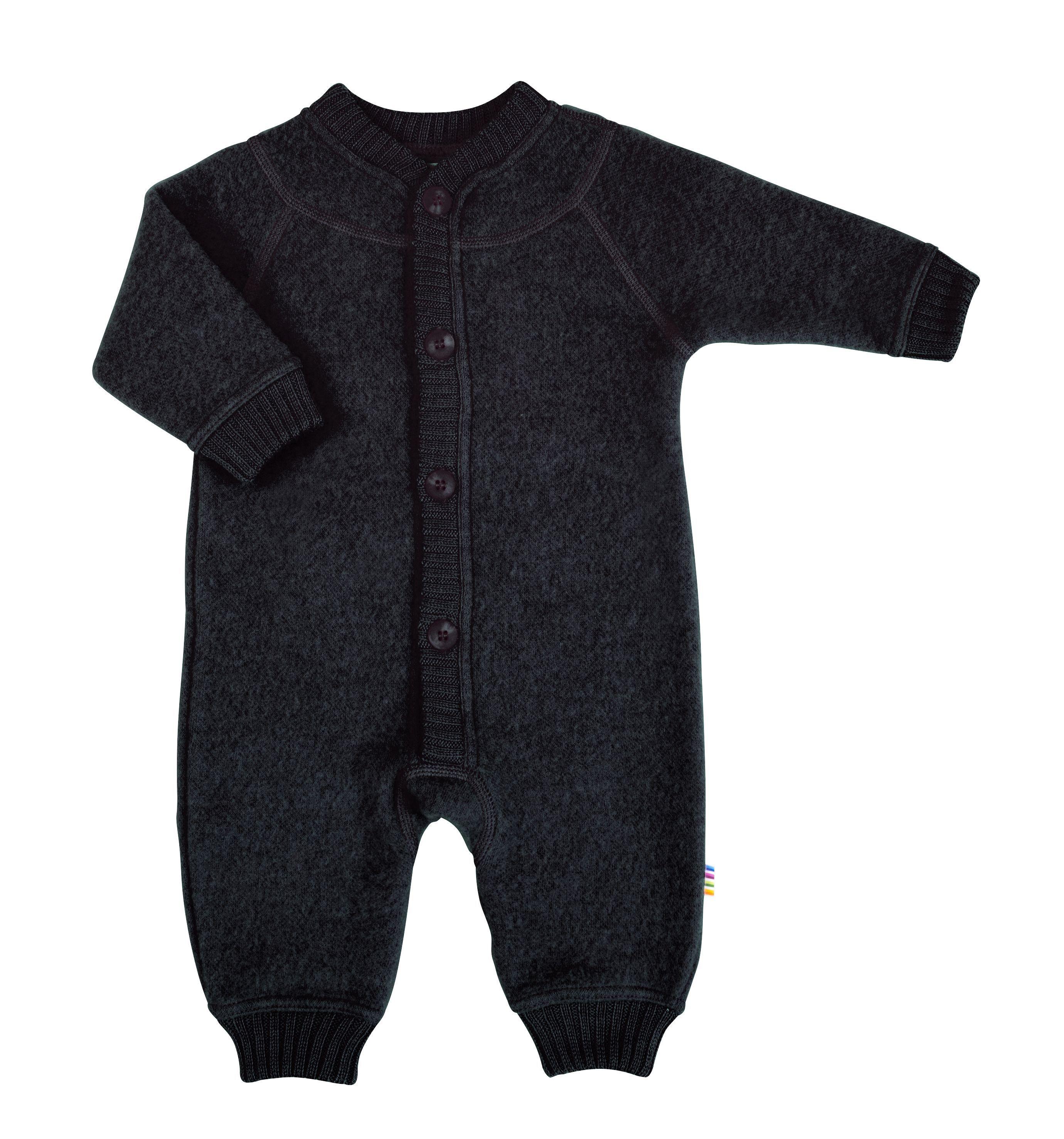 Image of   Soft wool køredragt m. knapper fra Joha - Sort