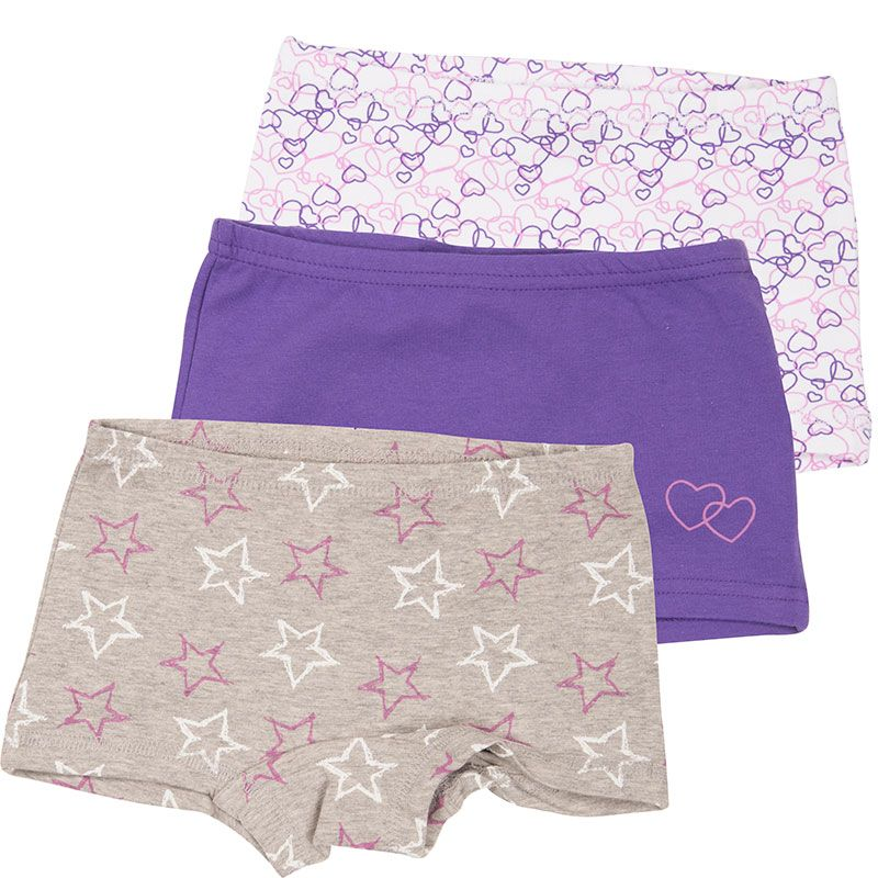 Image of   Hipsters fra CeLaVi - Purple Hearts and Stars (3 par)