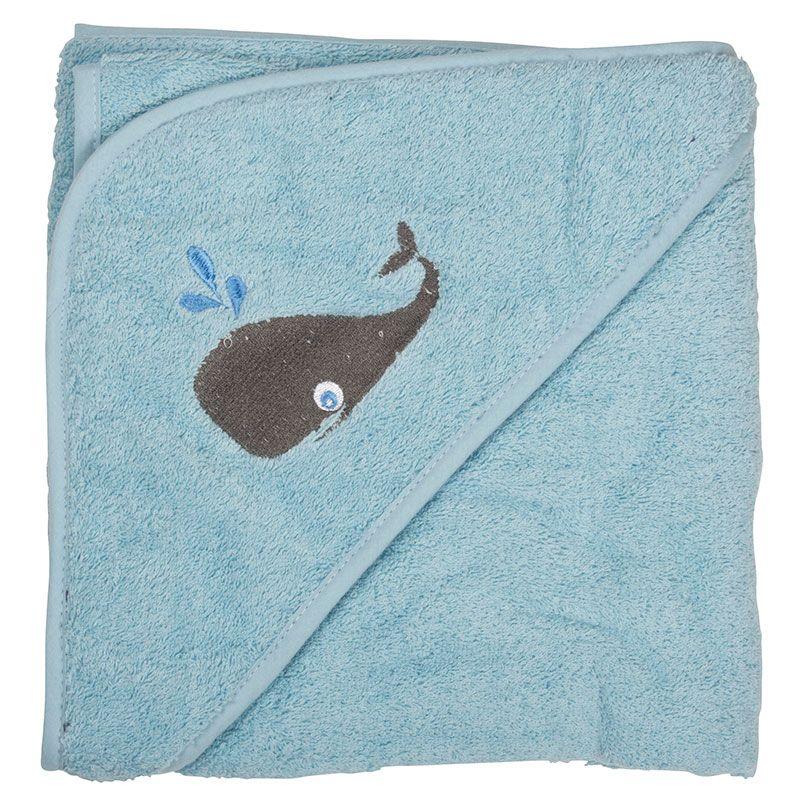 Image of   Badeslag fra Pippi - Soft Blue med hval