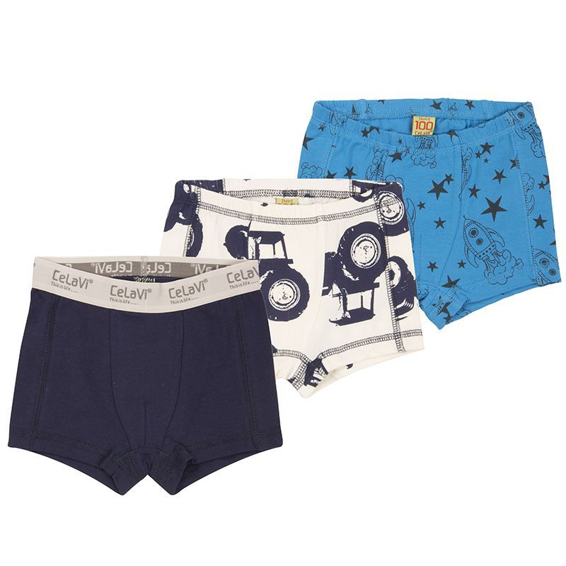 Image of   Boxershorts fra CeLaVi - Tractor and Rocket Mix (3 par)