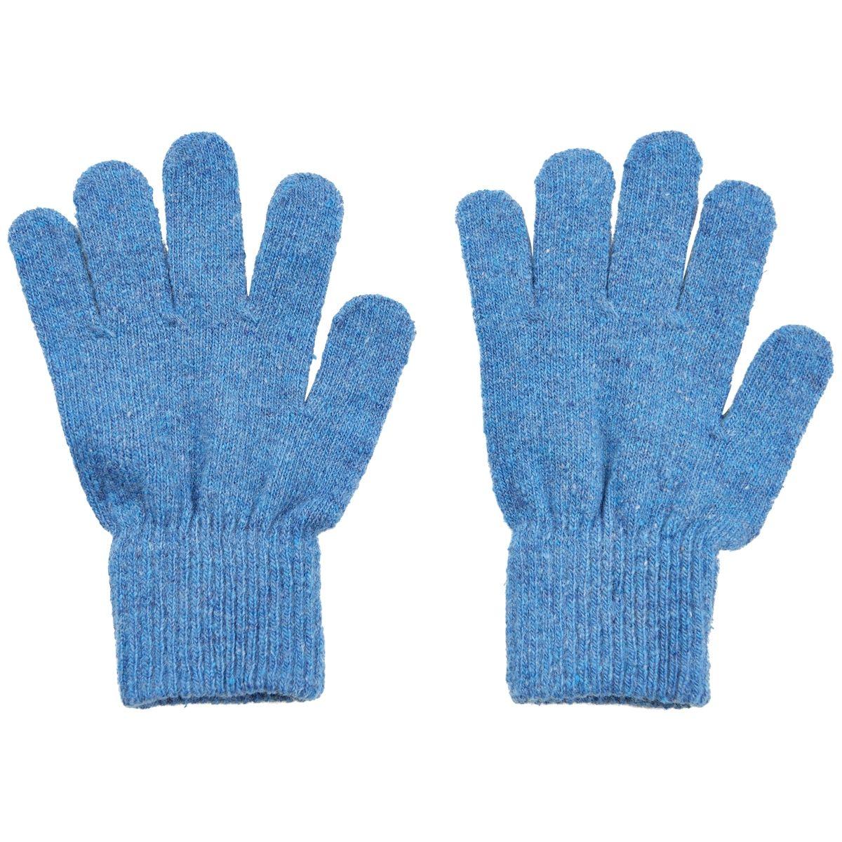 Image of Fingervanter fra CeLaVi - Uld - Blue melange (3-6år) (3941-728)